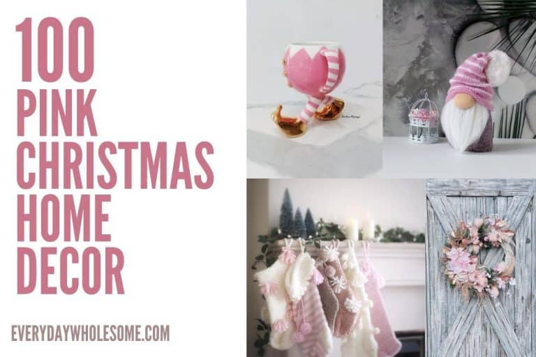 100 Pink Christmas Decorations for Holiday Home Decor