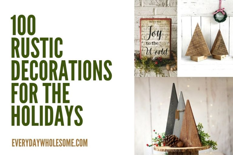 100 Rustic Christmas Home Decor for the Holidays