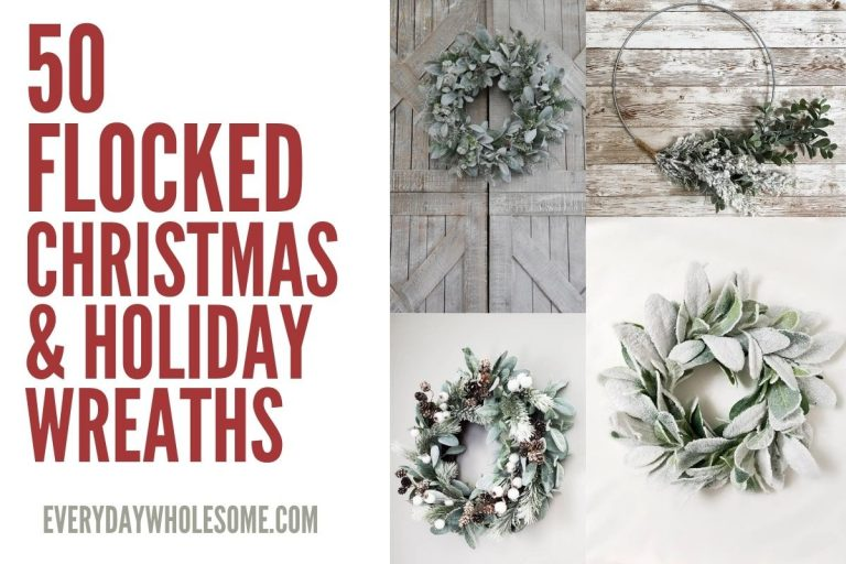 50 Flocked Wreaths for Winter, Christmas, Holidays