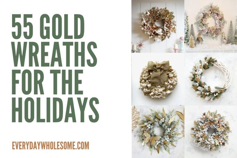55 Gold Christmas Wreaths for the Holidays