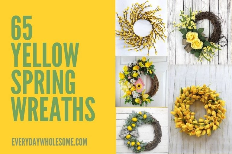 65 Yellow Spring and Summer Wreaths