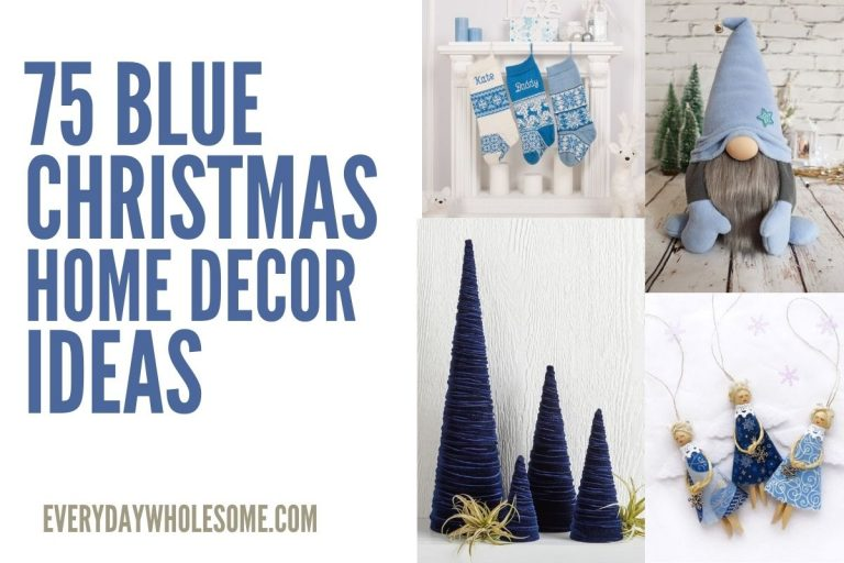 75 Blue Home Decor Ideas for Winter, Christmas & Holidays