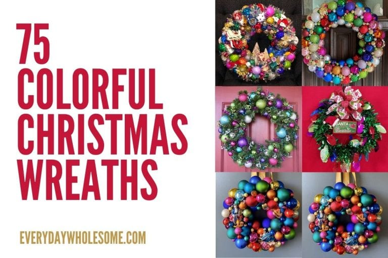 75 Colorful Christmas Holiday Wreaths