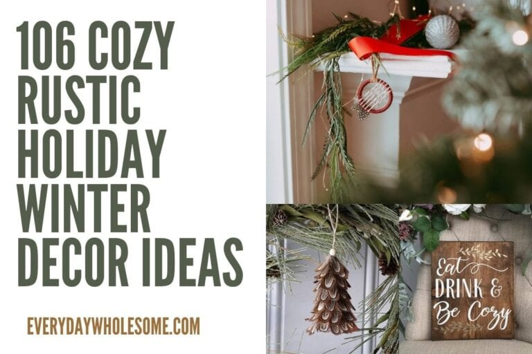 106 Cozy Rustic Holiday Decor Ideas