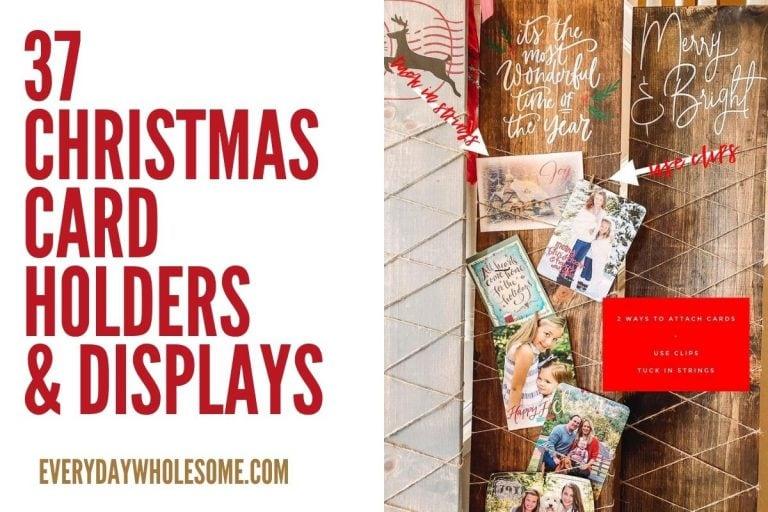 37 Christmas & Holiday Card Display Holder