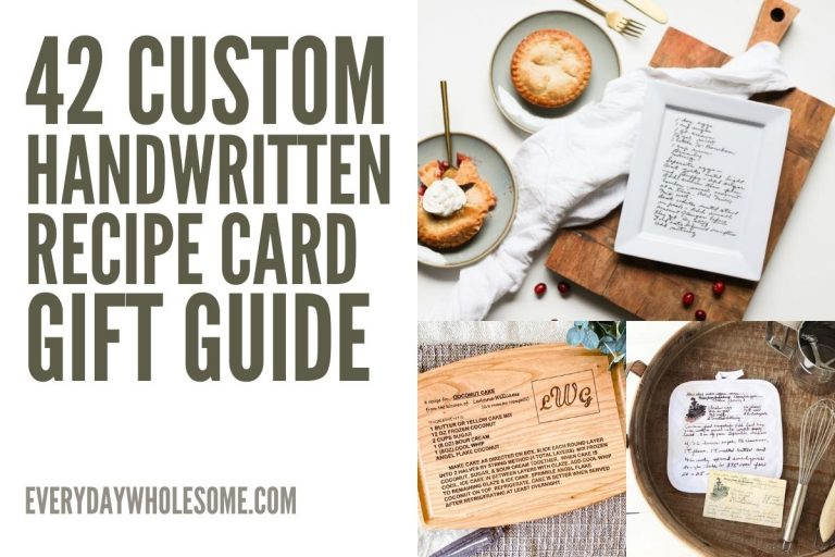 42 Custom Family Handwritten Recipe Gift Guide | Plates, Cutting Boards, Aprons, Tea Towels