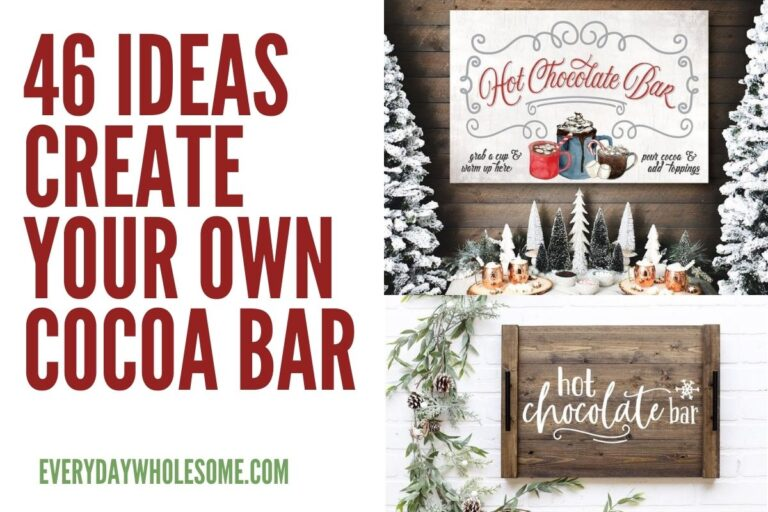 46 Ideas to Create Your Own Hot Cocoa Bar