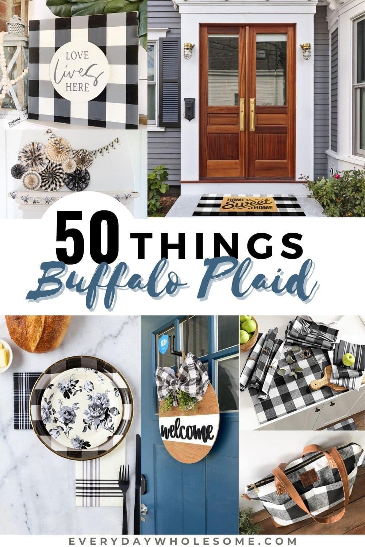 Everyday Wholesome   20 Buffalo Plaid Check Black & White Gingham ...