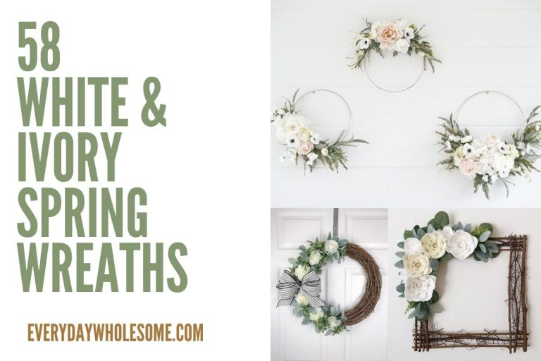 58 White and Ivory Spring Wreaths for Front Door