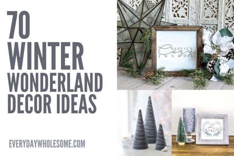 70 Winter Wonderland Farmhouse Home Decor Ideas