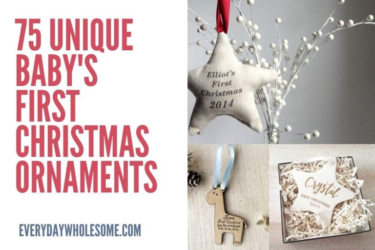 75 Unique Baby's First Christmas Ornament Ideas
