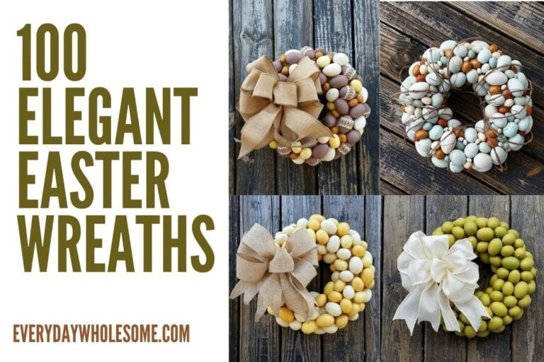 100 Elegant Easter Wreaths for Spring Front Door Decor