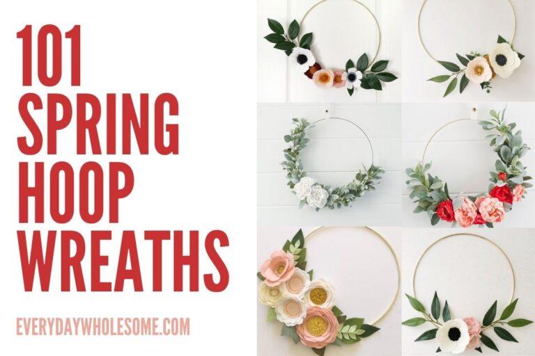 101 Spring Hoop Wreaths