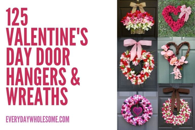 125 Valentine's Day Wreaths & Door Hangers