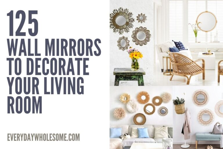 125 Decorative Mirrors for Living Room