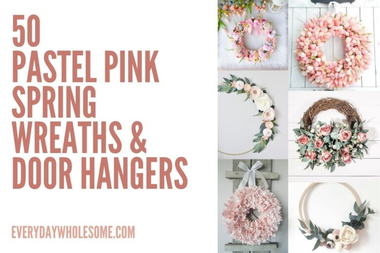 50 Light Pink Pastel Spring Wreath for your Easter Front Door
