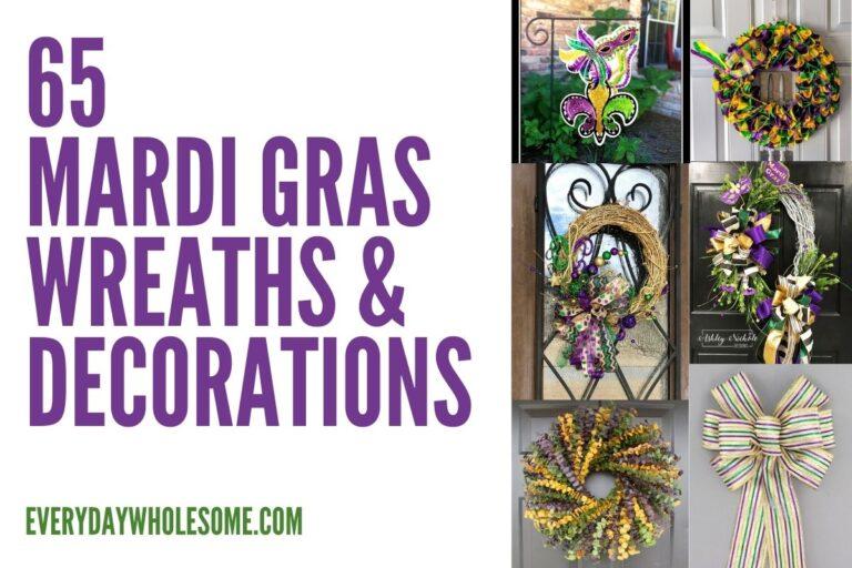 65 Mardi Gras Wreaths & Decorations