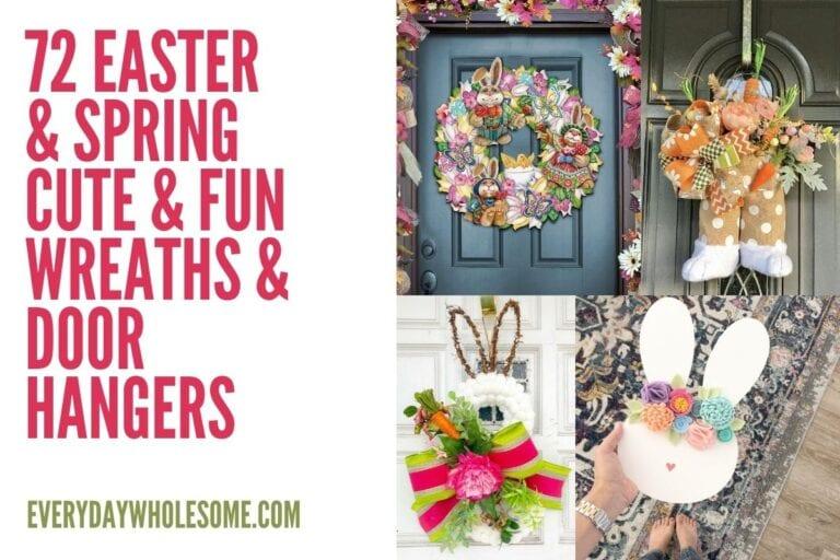 72 Cute & Funny Easter Wreaths & Door Hangers