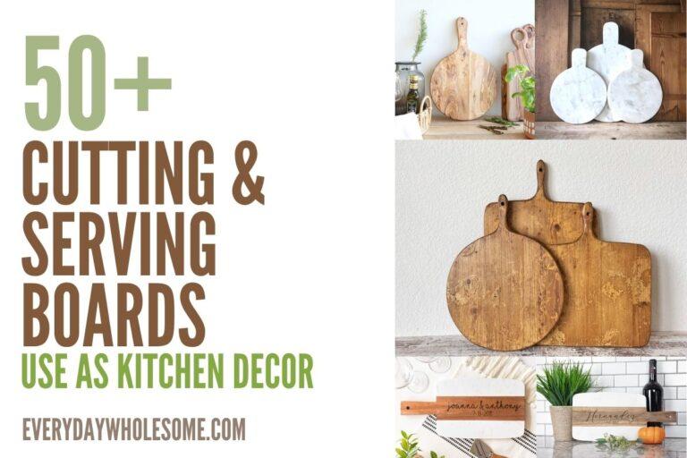 Kitchen Decor Ideas | Backsplash Round Cutting Boards