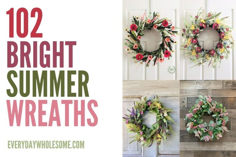 102 Bright & Colorful Summer Wreaths for your Front Door