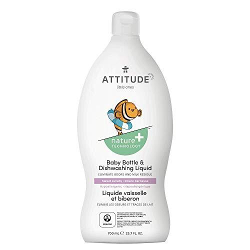 ATTITUDE Baby Dish Soap, Non-toxic, Plant-based, Eco-Friendly, Sweet Lullaby