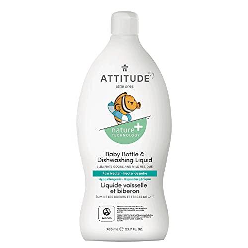 ATTITUDE Natural Baby Bottle & Dishwashing Liquid, Pear Nectar