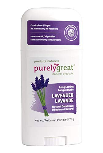 *Purelygreat Natural Deodorant Stick – Lavender