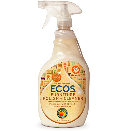 ECOS Non Toxic Bottle by Earth Friendly Products, Furniture Polish With Olive Oil, Orange