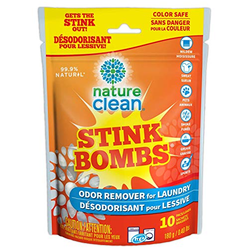 Nature Clean Stink Bomb Odor Remover Pacs for Laundry