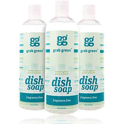 Grab Green Liquid Dish Soap, Fragrance Free