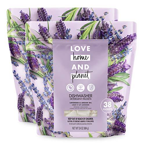 Love Home and Planet Dishwasher Detergent Packets Lavender & Argan Oil