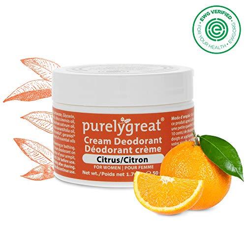 *Purelygreat All Natural Womens Deodorant – Aluminum Free Deodorant for Women – Citrus