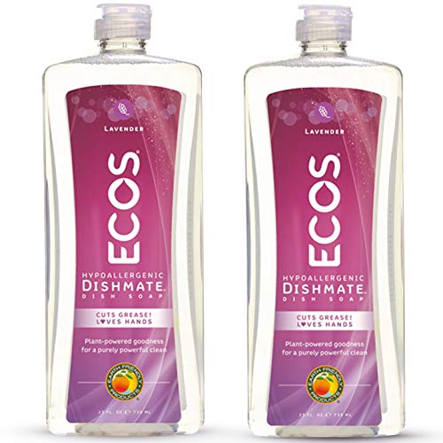 ECOS NonToxic Hypoallergenic Dishmate Dish Soap by Earth Friendly Products, Lavender