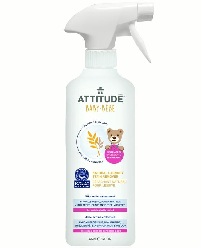 Attitude Baby Sensitive Skin Care Natural Laundry Stain Remover