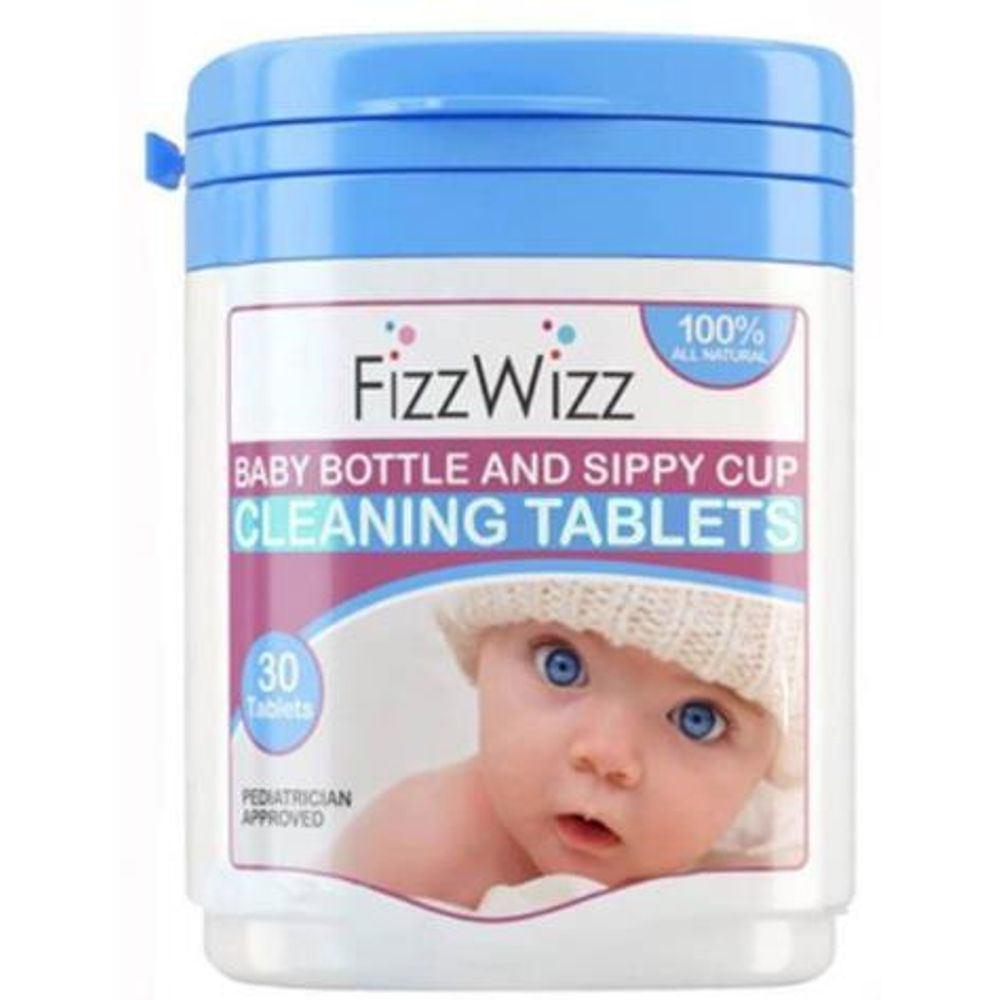 FizzWizz All-Natural Baby Bottle & Sippy Cup Cleaning Tablets