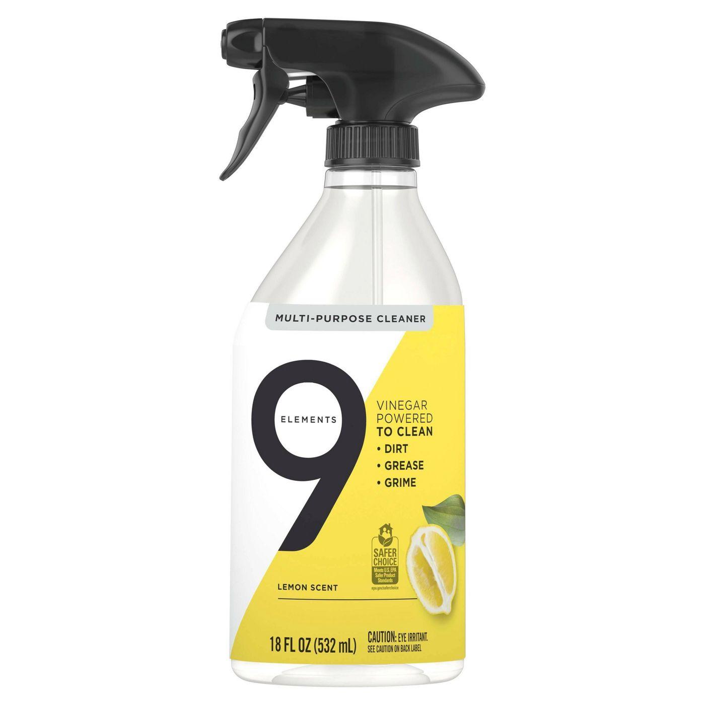 9 Elements Bathroom Cleaner, Lemon Scent