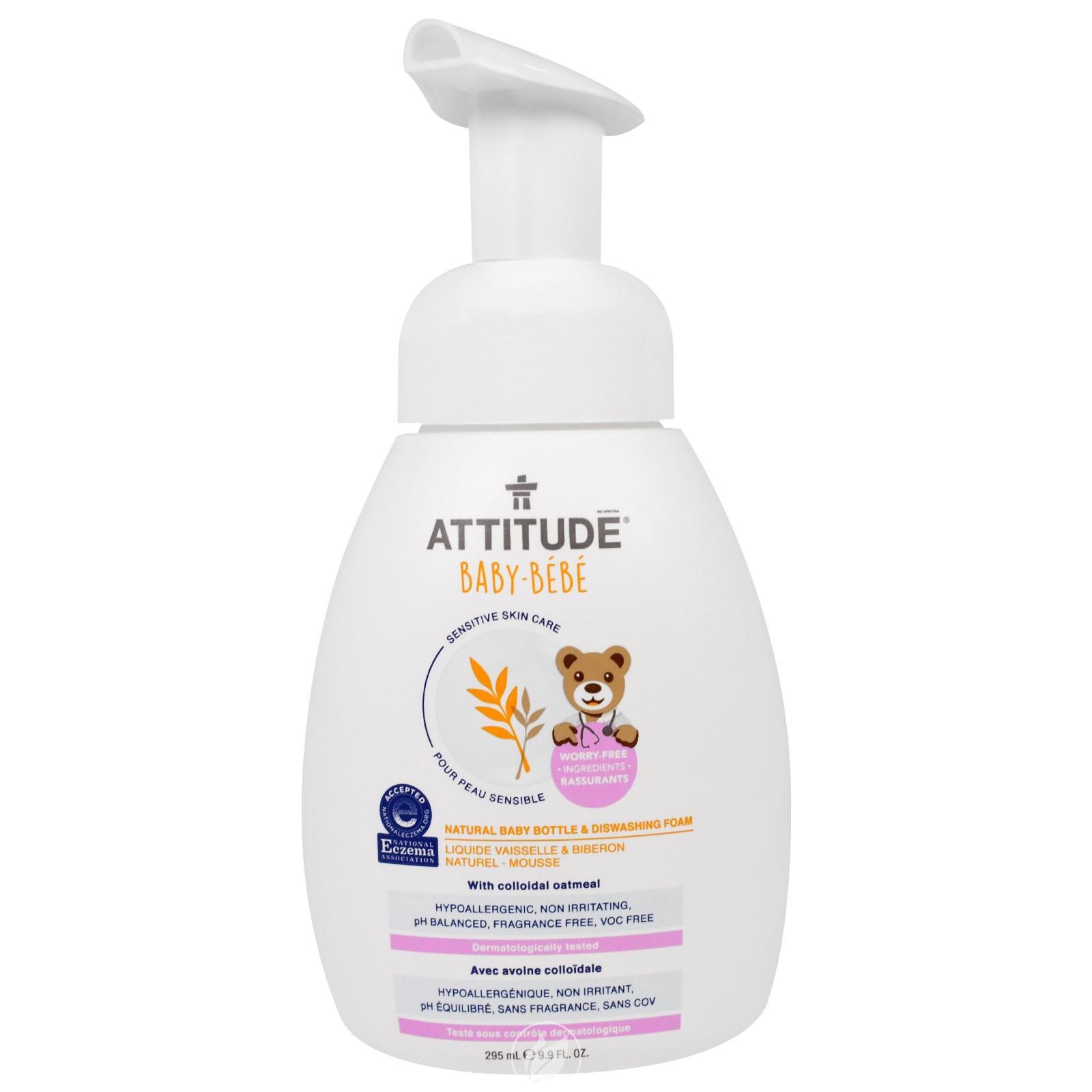 Attitude Sensitive Skin Care Natural Baby Bottle & Dishwashing Foam