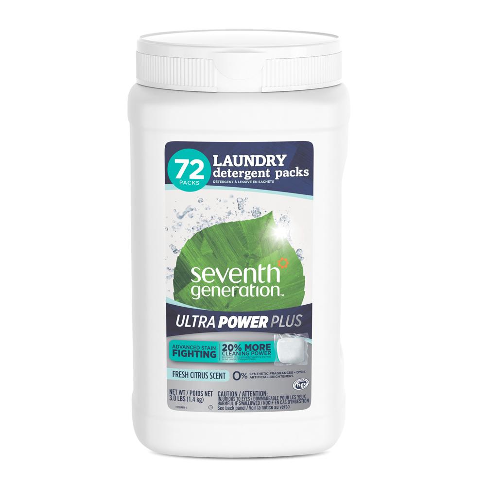 Seventh Generation Ultra Power Plus Laundry Detergent Packs Fresh Citrus