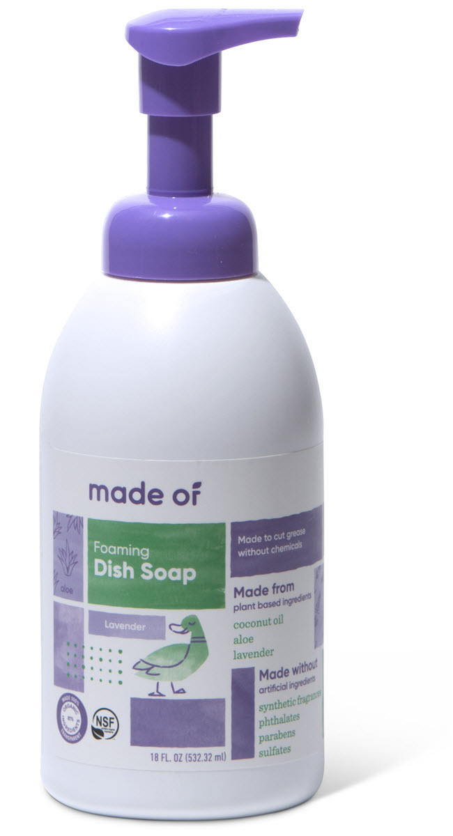 MADE OF Foaming Organic Baby Dish and Bottle Soap Lavender