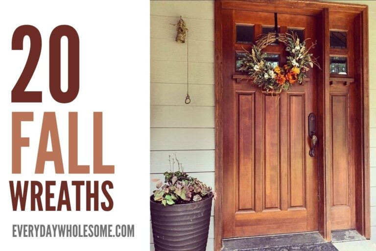 20 Beautiful Outdoor Fall Wreaths for your Autumn Front Door Decorations