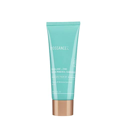 *Biossance Squalane + Zinc Sheer Mineral Sunscreen, SPF 30