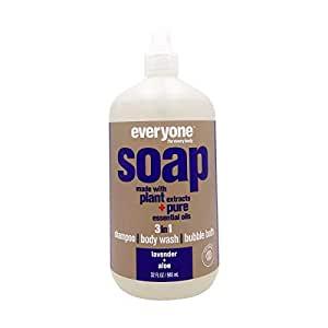 *Everyone Soap 3 in 1, Lavender + Aloe, shampoo, body wash & bubble bath