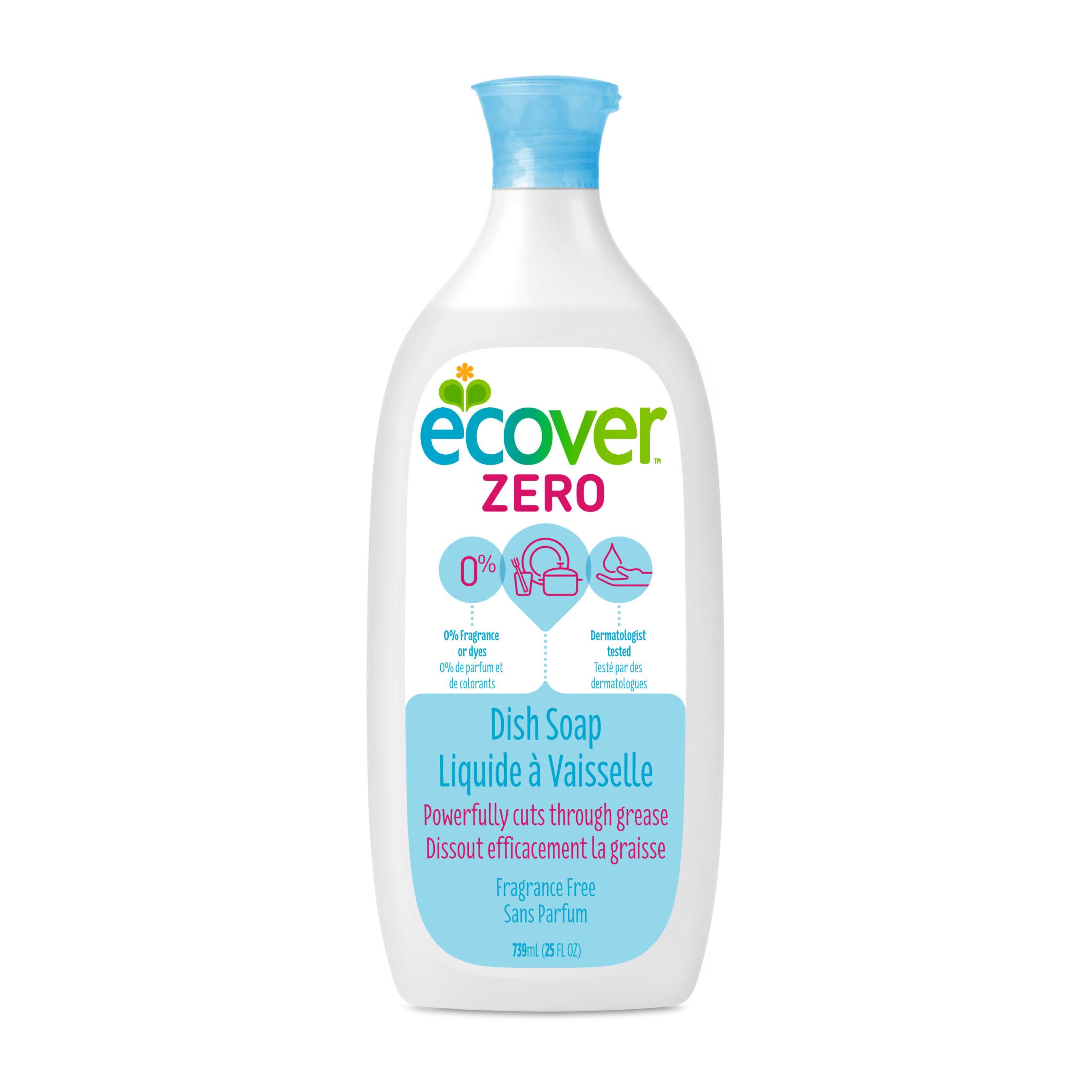 Ecover Dish Soap Liquid Zero, Fragrance Free