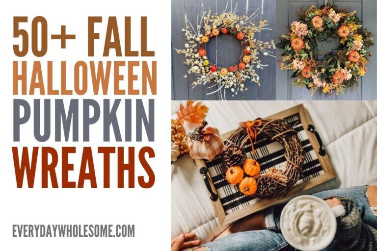 50+ Pumpkin Fall Wreaths for your Front Door