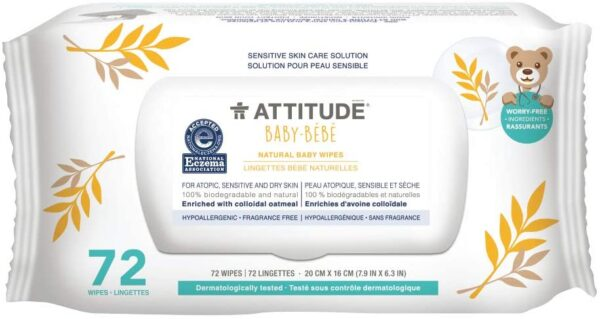 *ATTITUDE Baby Natural baby wipes