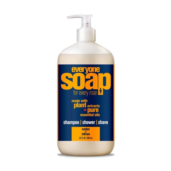*Everyone Soap For Every Man 3-in-1, Cedar + Citrus – shampoo, shower, shave