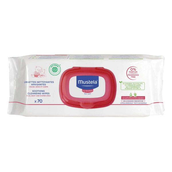 *Mustela Soothing Cleansing Wipes, Fragrance Free