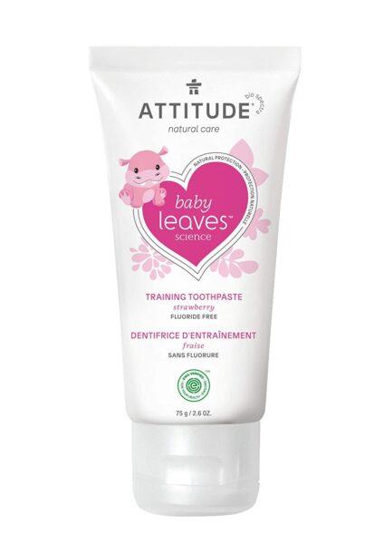 *ATTITUDE Baby & Child Fluoride-Free Training Toothpaste, Strawberry
