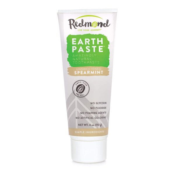 Redmond Earthpaste Natural Toothpaste, Unsweetened Spearmint