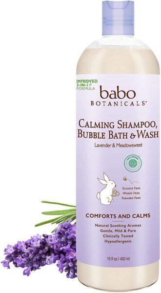 *Babo Botanicals Calming Shampoo Bubble Bath & Wash, Lavender & Meadowsweet